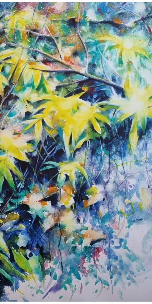 Automne aux feuilles jaunes